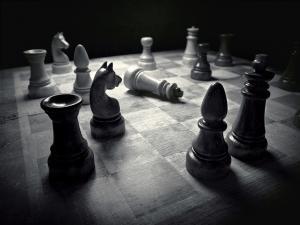 grey scale chess board